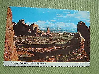 Vintage Rp Windows Section & Lasal Mountains Arches National Park Utah Postcard