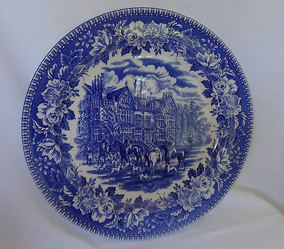 "England Heritage plate 10"" blue and white"