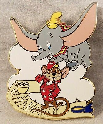 Dumbo Timothy Mouse Disney Auctions P.I.N.S. Timothy and Dumbo Scroll Disney Pin