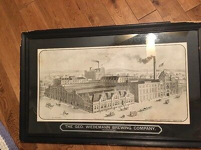 Old Print Of The George Wiseman Brewing Company Newport Ky Sold As Is!!