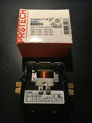 Protech Contactor 425068 30A 2-Pole 24V Coil New