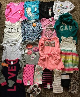NWT Girls Spring Fall BTS School Lot Clothes Outfits Shoes Gymboree TCP 4t