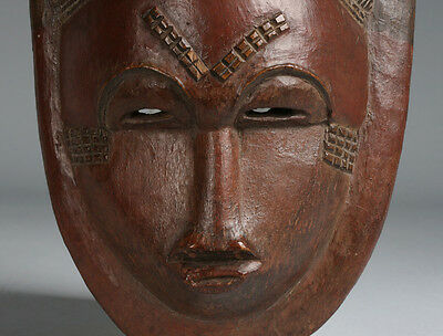 Antique African Mask - Baule Culture - Ivory Coast / 19th - Early 20th Century