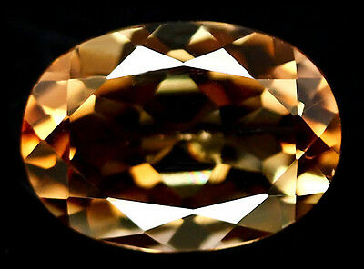 BUY IT NOW!!! VALAUBLE VVS NATURAL 6.64ct BRONZE IMPERIAL TOPAZ OVAL