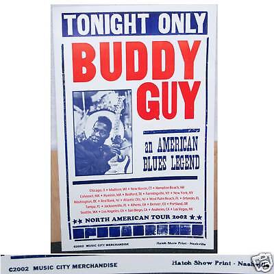 Buddy Guy Blues Legend American Tour 2002 Wall Poster New Official