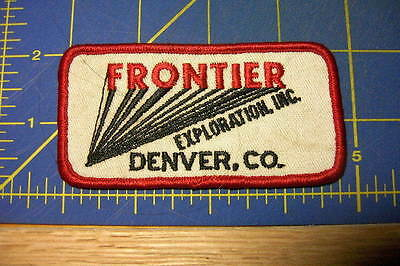 Frontier Oil Company Exploration  Inc Denver Co. Rare Embroidered Patch