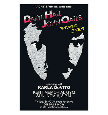 Hall And Oates 1981 Cleveland Concert Poster