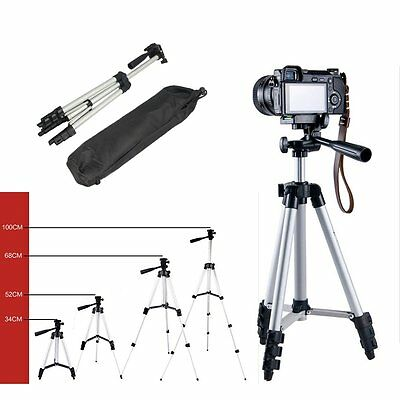 Portable Adjust Tripod Stand & Carrying Case For Canon Nikon Camera Camcorder