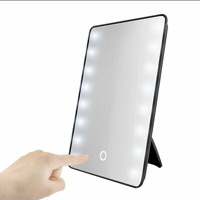 16 LED Lighted Makeup Mirror 180 Degree Free Rotation Touch Screen