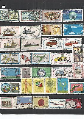 Italy 30 Large Used Stamps  , Nice,See Scan.