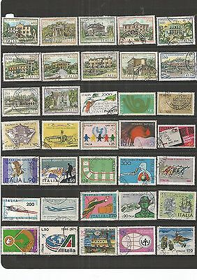 Italy 35 Large Used Stamps  , Nice Lot ,See Scan.
