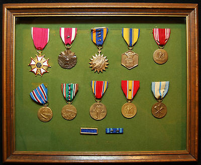 Framed WWII-Vietnam 8th Air Force Colonel's Named Medal Group w/LOM & Air Medal