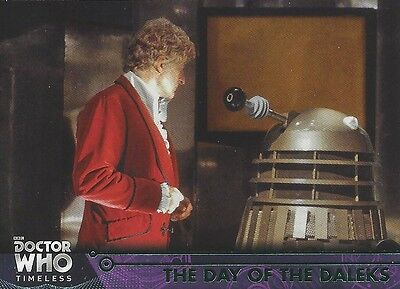 GREEN Parallel 12 Day of the Daleks 3rd Third Doctor Who Timeless 2016 Topps