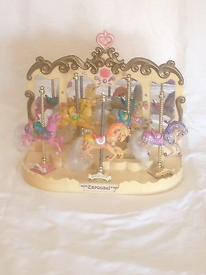 Vintage  Matchbox Carousel Mirrored Horse Display Stand