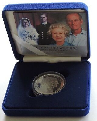 2007 Royal Mint Silver Proof £5 Diamond Wedding Cased With COA