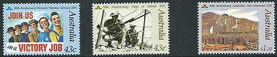 1991 'In Memory of Those Who Served' Anzac Day 50th Anniversaries Stamps