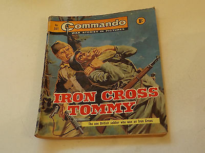 Commando War Comic Number 351,1968 Issue,good For Age,49 Years Old,very Rare.