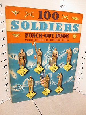 100 SOLDIERS WWII 1942 Army infantry Signal Corp paper doll punchout book unused
