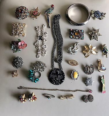 Great Job Lot/Collection of Mixed Vintage and Modern Jewellery Mainly Brooches