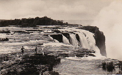 Africa - VICTORIA FALLS - Rapids above the Main Falls from Cataract Island