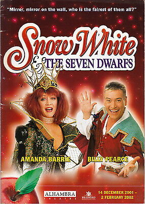 Alhambra Theatre Programme - SNOW WHITE - Signed by Cast Member (Listed Below)