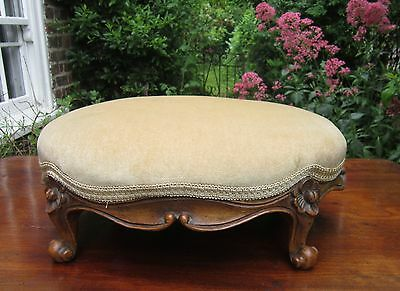 Antique Walnut Framed Foot Stool