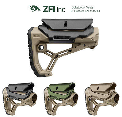 GCCP Fab Defense Adjustable Cheek-Rest for GL-CORE Buttstock - Black, Green, Tan