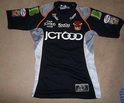 Old Bradford Bulls Shirt Match Worn And Signed Cook