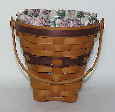 Longaberger 1994 May Series Lilac Basket Combo with Swing Handle
