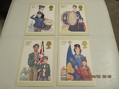 1982 Phq Card Number 58 Youth Organisations  Set Of 4  Mint