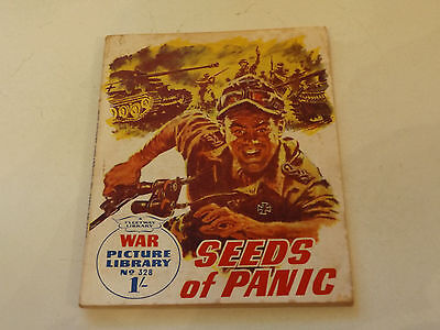 WAR PICTURE LIBRARY NO 328!,dated 1966!,GOOD for age,great 51!YEAR OLD issue.