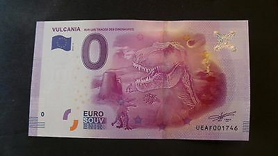 """France, Mint, 0 Euro, Novelty Note. Banknote Quality. """"Vulcania""""."""