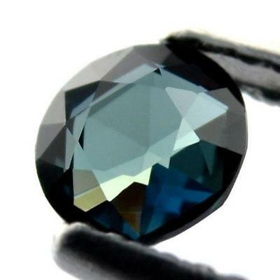 4.6mm Round Certified Natural Teal Sapphire 0.50ct Flawless Rose Cut Madagascar