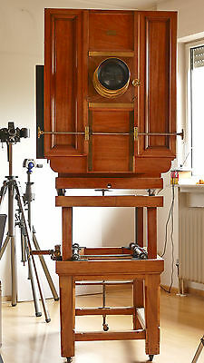 BENTZIN 1896 wooden camera Holz-Kamera wood 60x60 museal dream condition top
