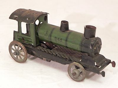 Train locomotor wind up tin penny toy 1920s blech latta