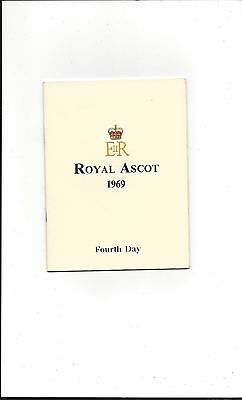 RACE CARD ASCOT 1969 4th DAY BE FRIENDLY, SONG, SO BLESSED, PARK TOP, RAFFINGORA