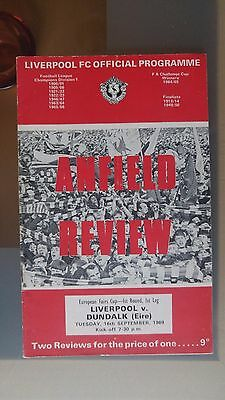 LIVERPOOL v DUNDALK 1969 INTER CITIES FAIRS CUP