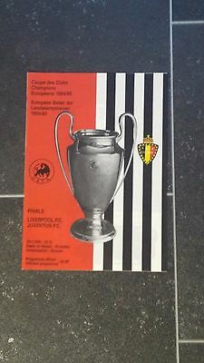 1985 EUROPEAN CUP FINAL LIVERPOOL v JUVENTUS MINT
