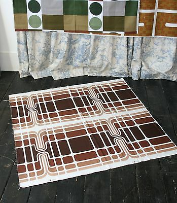 Vintage 1960s ABSTRACT / GEOMETRIC Interiors Textile length...