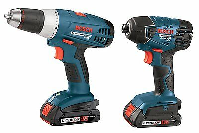 Bosch Blue 18-V Lithium-Ion Cordless Combo Kit with Drill-Driver and Hex Impact