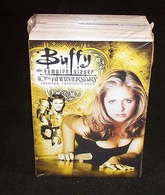 BUFFY THE VAMPIRE SLAYER 10th Anniversary  Trading Cards Complete  Set