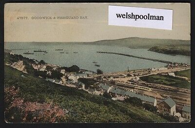 Antique Goodwick & Fishguard Bay Pembrokeshire South Wales Postcard