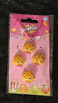 Shopkins Kooky Cookie Necklace Earrings Ring Jewelry Set NEW Fastest Shipping