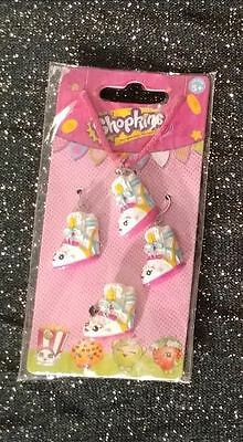 Shopkins Sneaky Wedge Necklace Earrings Ring Jewelry Set NEW Fastest Shipping