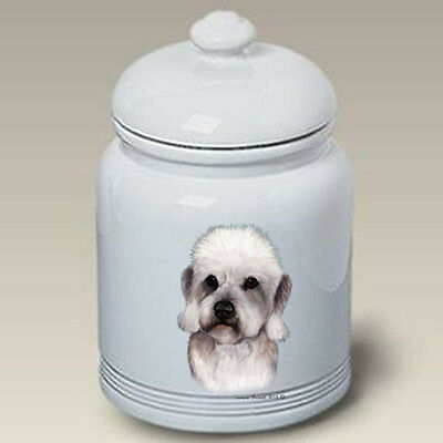 Ceramic Treat Cookie Jar - Pepper Dandie Dinmont Terrier (TB) 34211