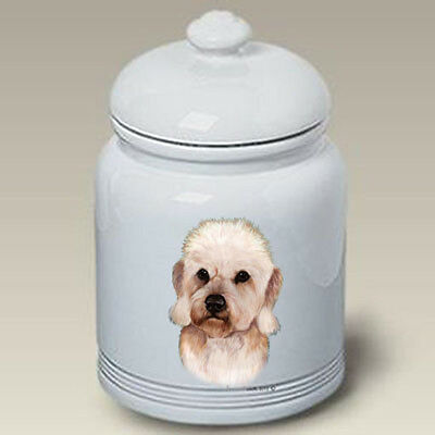 Ceramic Treat Cookie Jar - Mustard Dandie Dinmont Terrier (TB) 34210