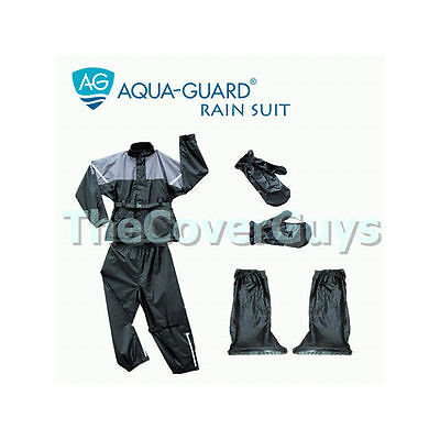 Motorcycle Rain Suit 4 Piece XX-Large