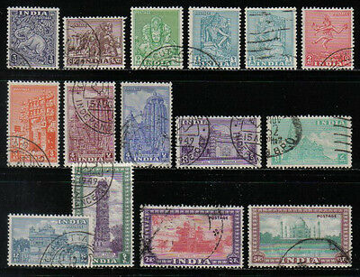 India 1949-51 Archaeology Temple Short Set To 5R Scott #207/236 Used