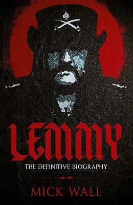 Lemmy: The Definitive Biography by Mick Wall Paperback Book Free Shipping!