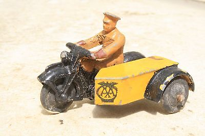 DINKY 44b AA MOTORCYCLE PATROL good condition 1940s